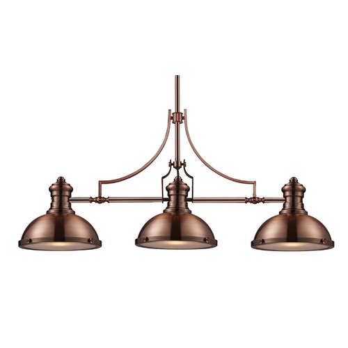Elk Lighting Chadwick Three-Light Linear Island Pendant 66145-3