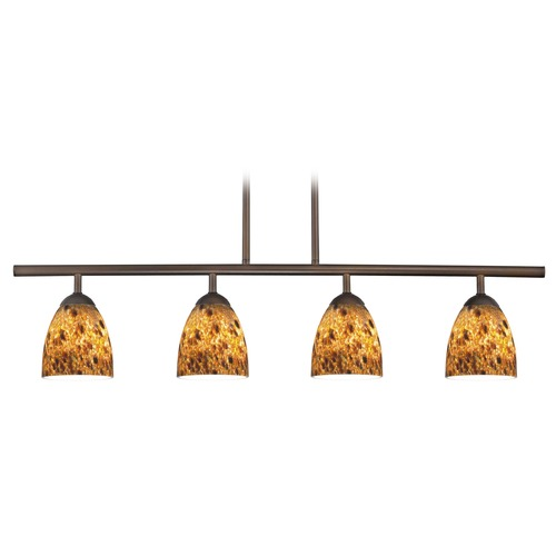 Design Classics Lighting Design Classics Axel Fuse Neuvelle Bronze Island Light with Bell Shade 718-220 GL1005MB