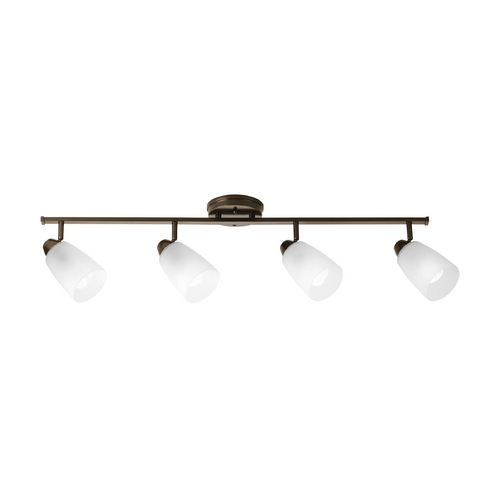 Progress Lighting Modern Directional Spot Light with White Glass in Antique Bronze Finish P3362-20