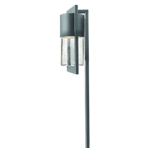Hinkley Lighting Path Light with Clear Glass in Hematite Finish 1547HE