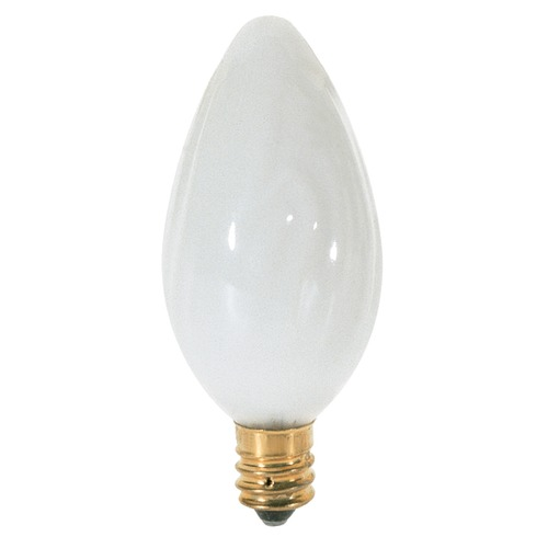 Satco Lighting Incandescent F10 Light Bulb Candelabra Base 120V Dimmable by Satco S3361