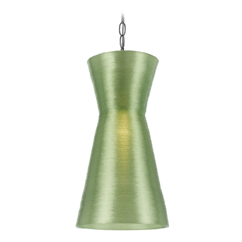 AF Lighting Modern Mini-Pendant Light with Green Shade 8579-1P