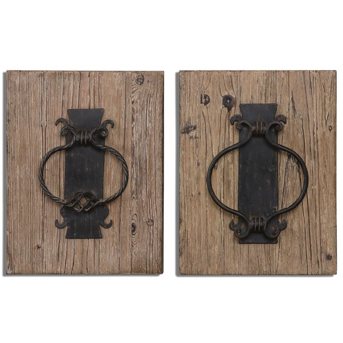 Uttermost Lighting Uttermost Rustic Door Knockers Wall Art Set of 2 07654