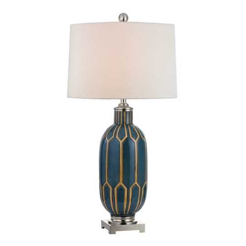 Dimond Lighting Table Lamp with White Shades in Tate Finish D351