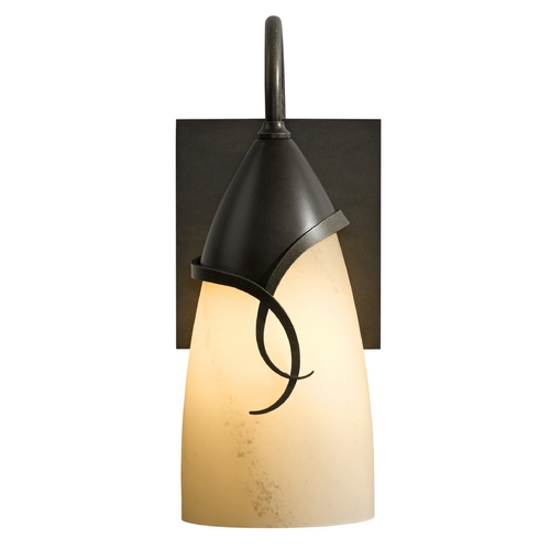 Hubbardton Forge Lighting Hubbardton Forge Lighting Flora Dark Smoke Outdoor Wall Light 303073-07-H445