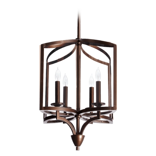 Quorum Lighting Quorum Lighting Kaufmann Oiled Bronze Pendant Light 6304-4-86