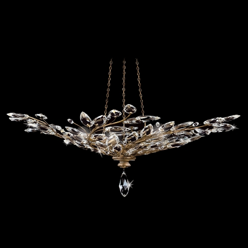 Fine Art Lamps Fine Art Lamps Crystal Laurel Gold Leaf Pendant Light 776440ST