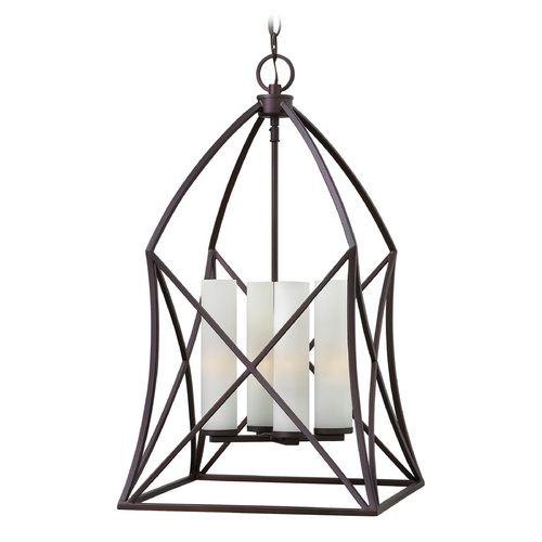 Hinkley Lighting Hinkley Lighting Ravenna Spanish Bronze Pendant Light with Cylindrical Shade 3313SB