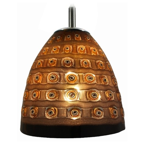 Oggetti Lighting Oggetti Elan Dark Bronze Mini-Pendant Light with Bowl / Dome Shade 79-L0602T