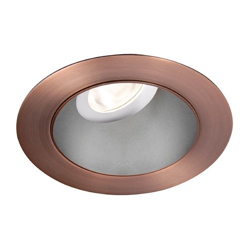 WAC Lighting WAC Lighting Round Haze Copper Bronze 3.5-Inch LED Recessed Trim 3500K 1290LM 55 Degree HR3LEDT318PF835HCB