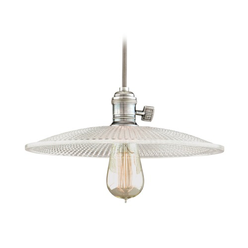 Hudson Valley Lighting Hudson Valley Lighting Heirloom Historic Nickel Pendant Light with Bowl / Dome Shade 8001-HN-GM4