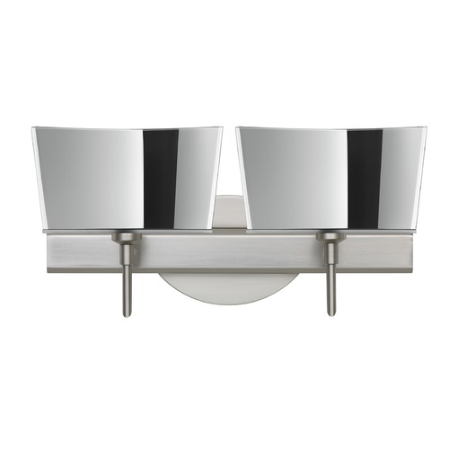 Besa Lighting Besa Lighting Groove Frosted Glass Satin Nickel LED Bathroom Light 2SW-6773MR-LED-SN