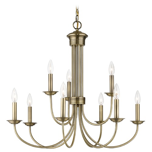 Livex Lighting Livex Lighting Estate Antique Brass Chandelier 42687-01