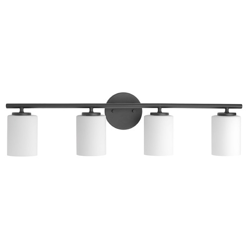 Progress Lighting Modern Bathroom Light Black Replay by Progress Lighting P2160-31