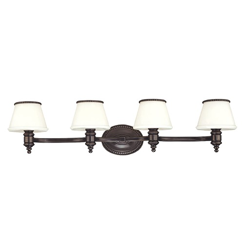 Hudson Valley Lighting Bathroom Light with White Glass in Old Bronze Finish 4944-OB