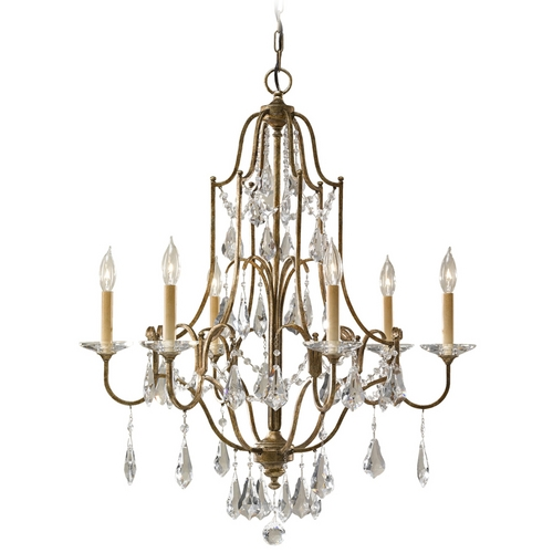 Feiss Lighting Chandelier in Oxidized Bronze Finish F2478/6OBZ