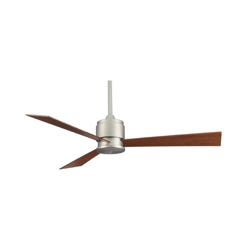 Fanimation Fans Modern Ceiling Fan Without Light in Satin Nickel Finish FP4620SN