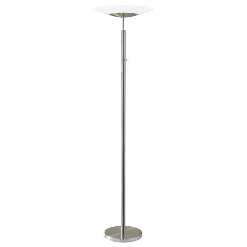 Adesso Home Lighting Adesso Home Stellar Brushed Steel LED Torchiere Lamp with Bowl / Dome Shade 5127-22