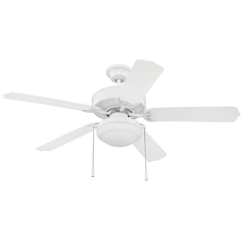 Craftmade Lighting Craftmade 52-Inch White Outdoor Ceiling Fan with Light END52WW5PC1