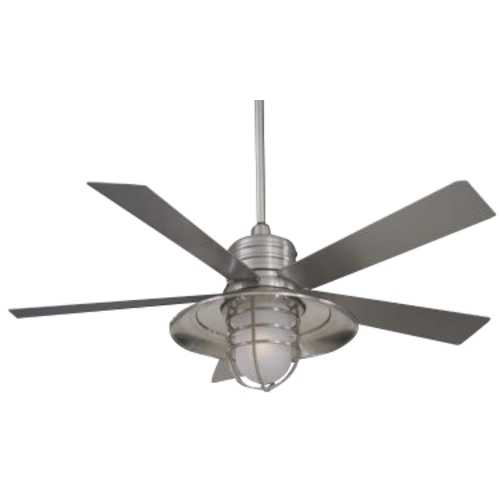 Minka Aire 54-Inch Ceiling Fan with Five Blades and Light Kit F582-BNW