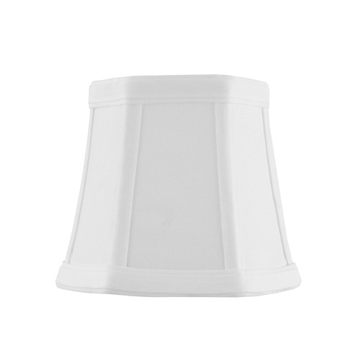 Design Classics Lighting Clip-On Hexagon Piping White Lamp Shade SH9620