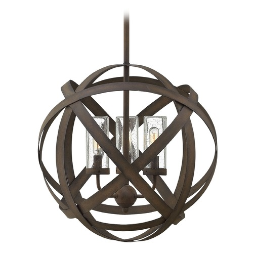 Hinkley Lighting Carson Vintage Iron Outdoor Hanging Light 29703VI