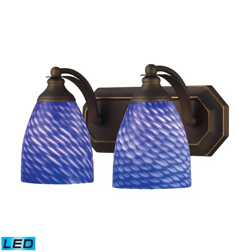 Elk Lighting Elk Lighting Bath and Spa Aged Bronze LED Bathroom Light 570-2B-S-LED