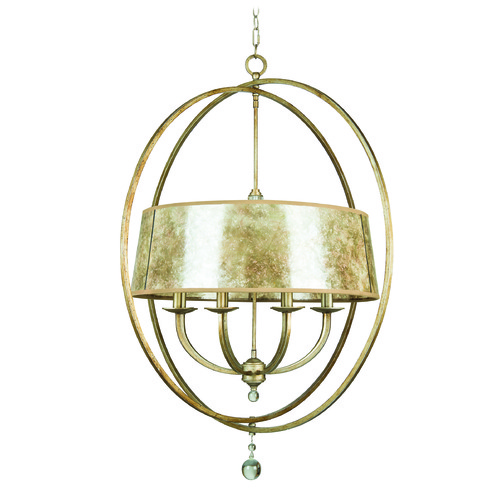 Jeremiah Lighting Jeremiah Windsor Athenian Obol Pendant Light with Drum Shade 35538-AO