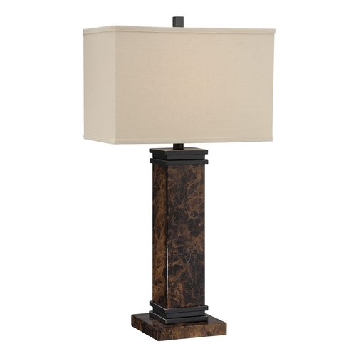 Lite Source Lighting Lite Source Lighting Mauro Dark Bronze Table Lamp with Rectangle Shade LS-22255