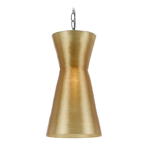 AF Lighting Modern Mini-Pendant Light with Gold Shade 8580-1P