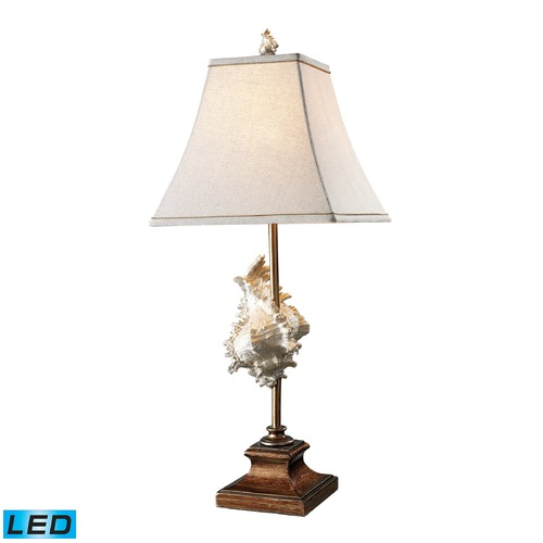 Dimond Lighting Dimond Lighting Conch Shell, Bronze LED Table Lamp with Square Shade D1979-LED
