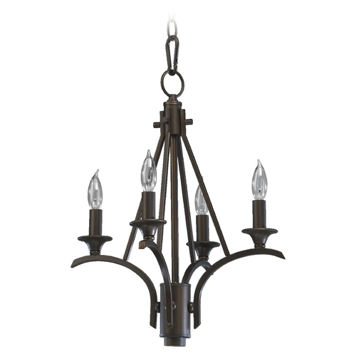 Quorum Lighting Quorum Lighting Winslet Oiled Bronze Mini-Chandelier 6029-4-86
