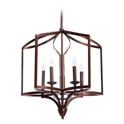 Quorum Lighting Quorum Lighting Kaufmann Oiled Bronze Pendant Light 6304-5-86