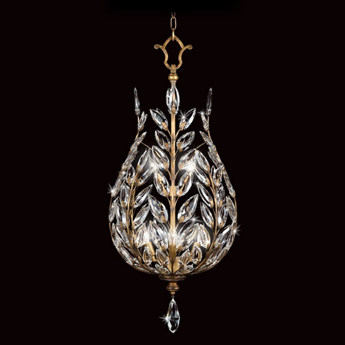 Fine Art Lamps Fine Art Lamps Crystal Laurel Gold Leaf Pendant Light 776540ST