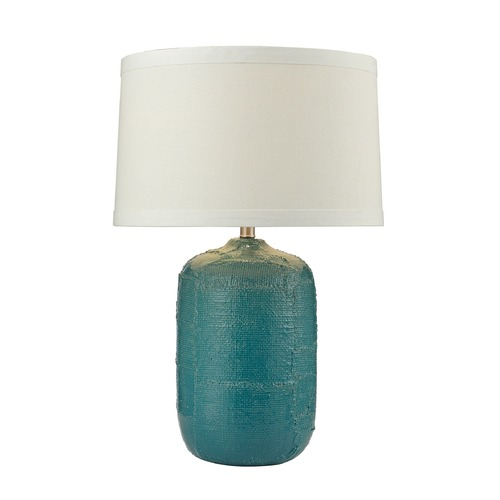 Dimond Lighting Dimond Lighting Mediterranean Blue Table Lamp with Empire Shade D2694