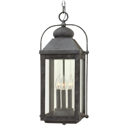Hinkley Lighting Hinkley Lighting Anchorage Aged Zinc Outdoor Hanging Light 1852DZ
