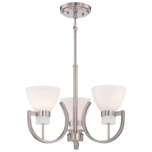 Minka Lavery Minka Hudson Bay Brushed Nickel Mini-Chandelier 4383-84