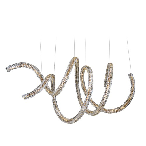 Allegri Lighting Ravina LED + Halogen Horizontal Spiral w/ Swarovski Elements Crystal 11804-010-SE001