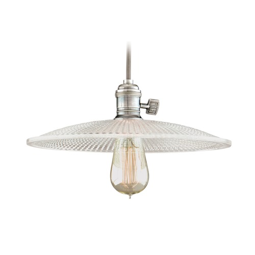 Hudson Valley Lighting Hudson Valley Lighting Heirloom Historic Nickel Pendant Light with Bowl / Dome Shade 8001-HN-GS4