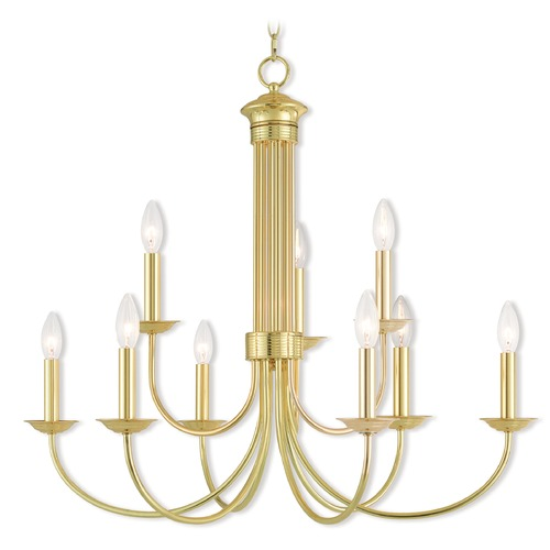 Livex Lighting Livex Lighting Estate Polished Brass Chandelier 42687-02
