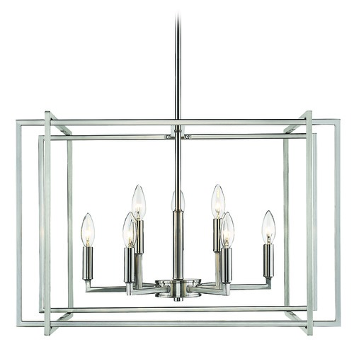 Golden Lighting Golden Lighting Tribeca Pewter Chandelier 6070-9PW-PW