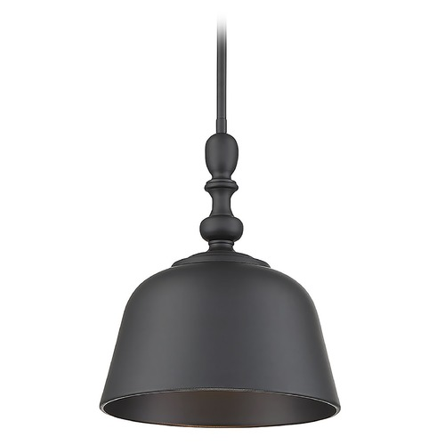 Savoy House Savoy House Lighting Berg Matte Black Pendant Light with Bowl / Dome Shade 7-3751-1-89