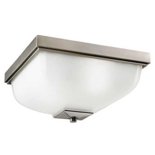 Kichler Lighting Kichler Modern Outdoor Ceiling Light with White Glass in Pewter Finish 9817AP
