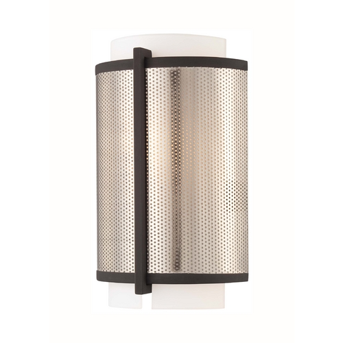 George Kovacs Lighting Modern Sconce Wall Light in Bronze W/brushed Nickel Finish P920-684