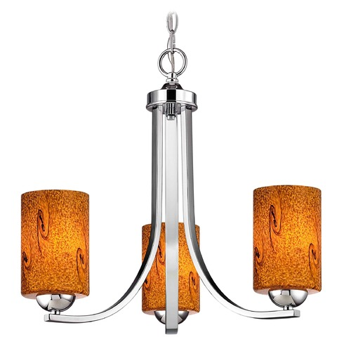 Design Classics Lighting Chrome Mini-Chandelier 5843-26 GL1001C
