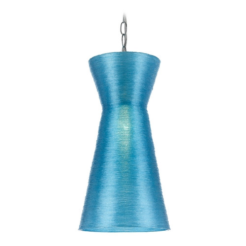 AF Lighting Modern Mini-Pendant Light with Blue Shade 8581-1P