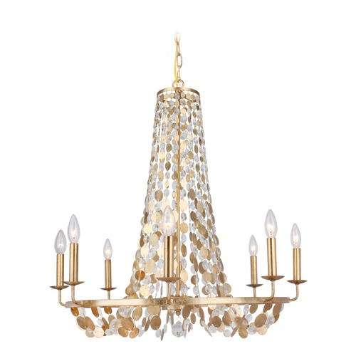 Crystorama Lighting Crystorama Lighting Bella Antique Gold Chandelier 568-GA