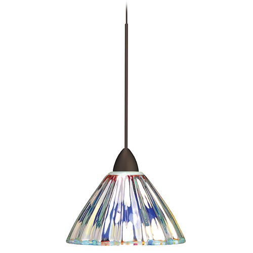 WAC Lighting Wac Lighting European Collection Dark Bronze Mini-Pendant with Conical Shade MP-518-DIC/DB
