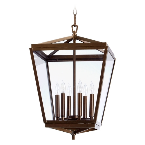 Quorum Lighting Quorum Lighting Kaufmann Oiled Bronze Pendant Light 6604-6-86