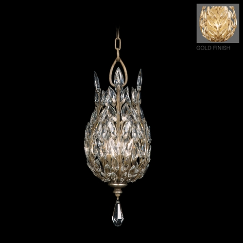 Fine Art Lamps Fine Art Lamps Crystal Laurel Gold Leaf Pendant Light 804640-2ST